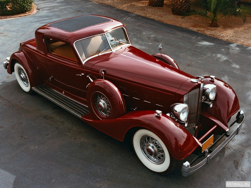 Постер Packard Twelve Sport Coupe by Dietrich 1933, 27x20 см, на бумагеPackard<br>Постер на холсте или бумаге. Любого нужного вам размера. В раме или без. Подвес в комплекте. Трехслойная надежная упаковка. Доставим в любую точку России. Вам осталось только повесить картину на стену!<br>