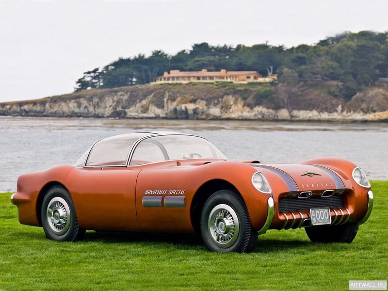Постер Pontiac Bonneville Special Concept Car 1954 Произведены 2 единицы, 27x20 см, на бумагеPontiac<br>Постер на холсте или бумаге. Любого нужного вам размера. В раме или без. Подвес в комплекте. Трехслойная надежная упаковка. Доставим в любую точку России. Вам осталось только повесить картину на стену!<br>