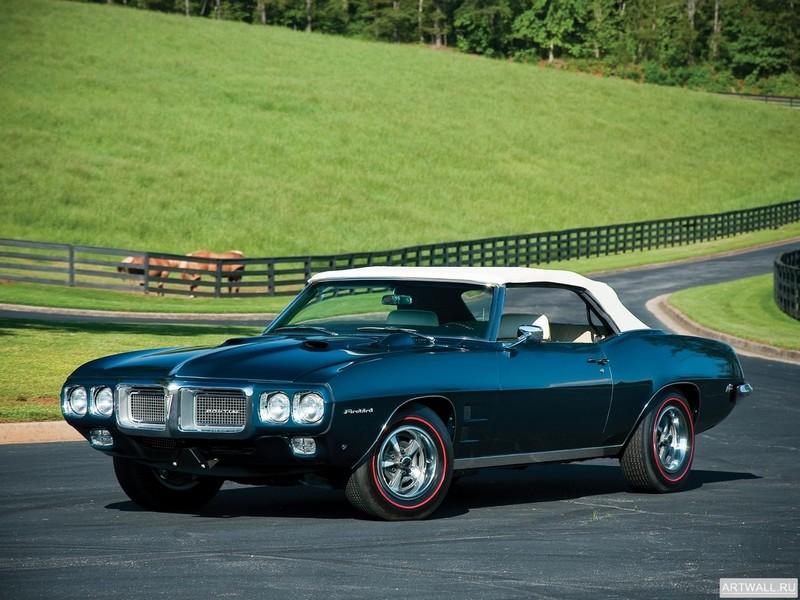 Постер Pontiac Firebird 400 Ram Air IV Convertible 1969 Произведено 17 единиц, 27x20 см, на бумагеPontiac<br>Постер на холсте или бумаге. Любого нужного вам размера. В раме или без. Подвес в комплекте. Трехслойная надежная упаковка. Доставим в любую точку России. Вам осталось только повесить картину на стену!<br>
