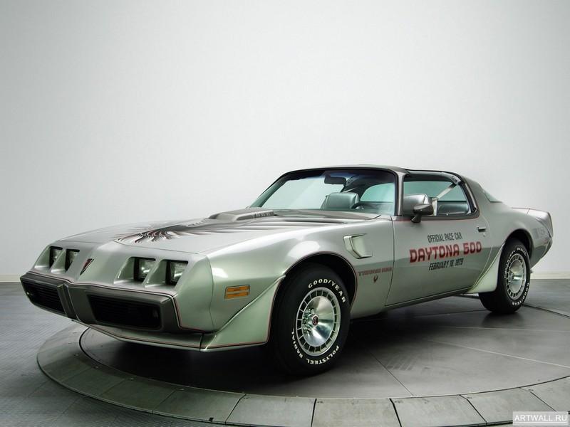 Постер Pontiac Firebird Trans Am T A 6.6 RPO L78 10th Anniversary Daytona 500 Pace Car (Y89) 1979, 27x20 см, на бумагеPontiac<br>Постер на холсте или бумаге. Любого нужного вам размера. В раме или без. Подвес в комплекте. Трехслойная надежная упаковка. Доставим в любую точку России. Вам осталось только повесить картину на стену!<br>