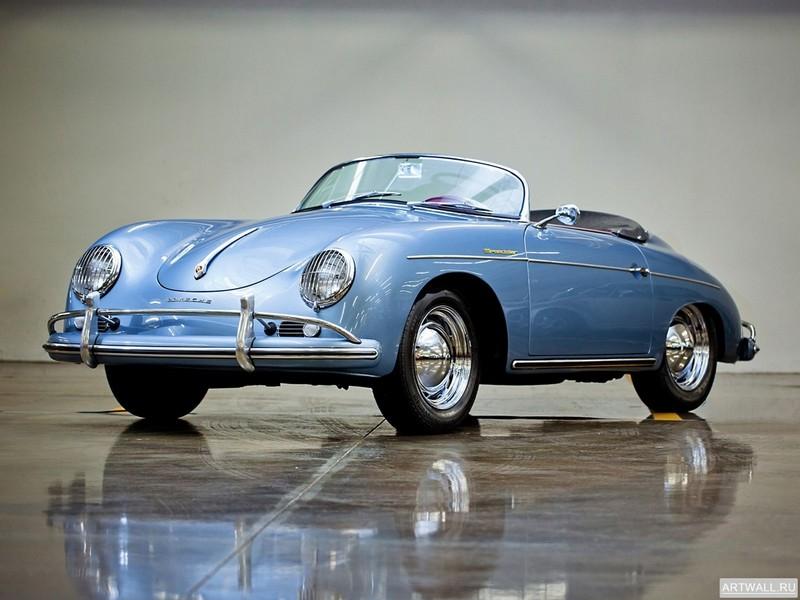 Постер Porsche 356A 1600 Super Speedster 1955-59, 27x20 см, на бумагеPorsche<br>Постер на холсте или бумаге. Любого нужного вам размера. В раме или без. Подвес в комплекте. Трехслойная надежная упаковка. Доставим в любую точку России. Вам осталось только повесить картину на стену!<br>