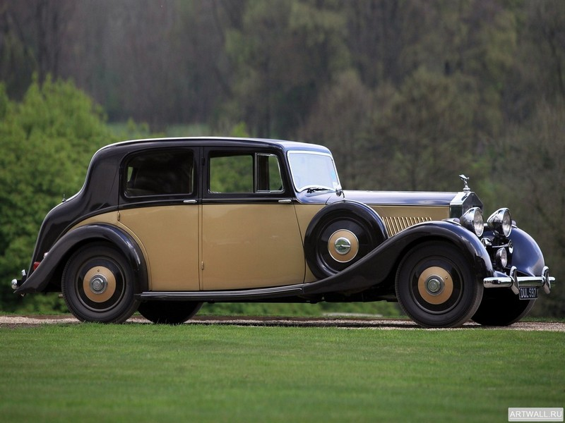 Постер Rolls-Royce 25 30 HP Saloon by Hooper 1937, 27x20 см, на бумагеRolls-Royce<br>Постер на холсте или бумаге. Любого нужного вам размера. В раме или без. Подвес в комплекте. Трехслойная надежная упаковка. Доставим в любую точку России. Вам осталось только повесить картину на стену!<br>