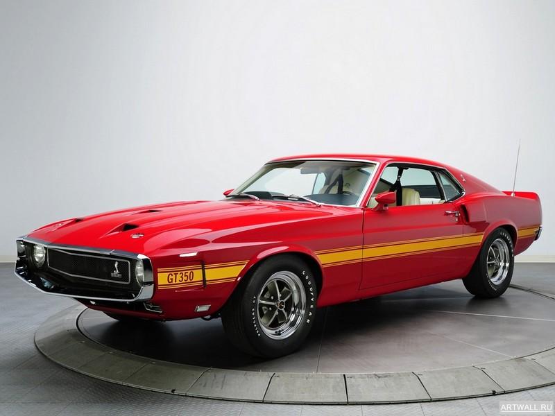 Постер Shelby GT350 1969-70, 27x20 см, на бумагеShelby<br>Постер на холсте или бумаге. Любого нужного вам размера. В раме или без. Подвес в комплекте. Трехслойная надежная упаковка. Доставим в любую точку России. Вам осталось только повесить картину на стену!<br>