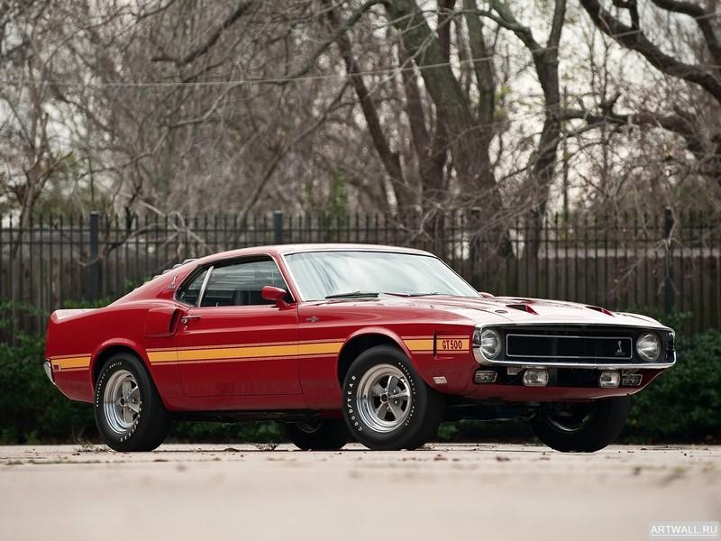 Постер Shelby GT500 1969, 27x20 см, на бумагеShelby<br>Постер на холсте или бумаге. Любого нужного вам размера. В раме или без. Подвес в комплекте. Трехслойная надежная упаковка. Доставим в любую точку России. Вам осталось только повесить картину на стену!<br>