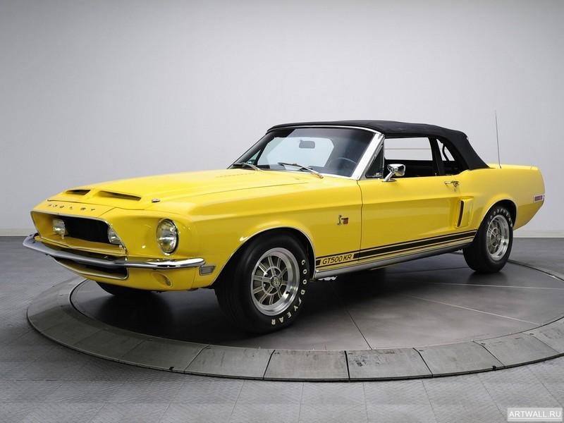 Постер Shelby GT500 KR Convertible 1968, 27x20 см, на бумагеShelby<br>Постер на холсте или бумаге. Любого нужного вам размера. В раме или без. Подвес в комплекте. Трехслойная надежная упаковка. Доставим в любую точку России. Вам осталось только повесить картину на стену!<br>