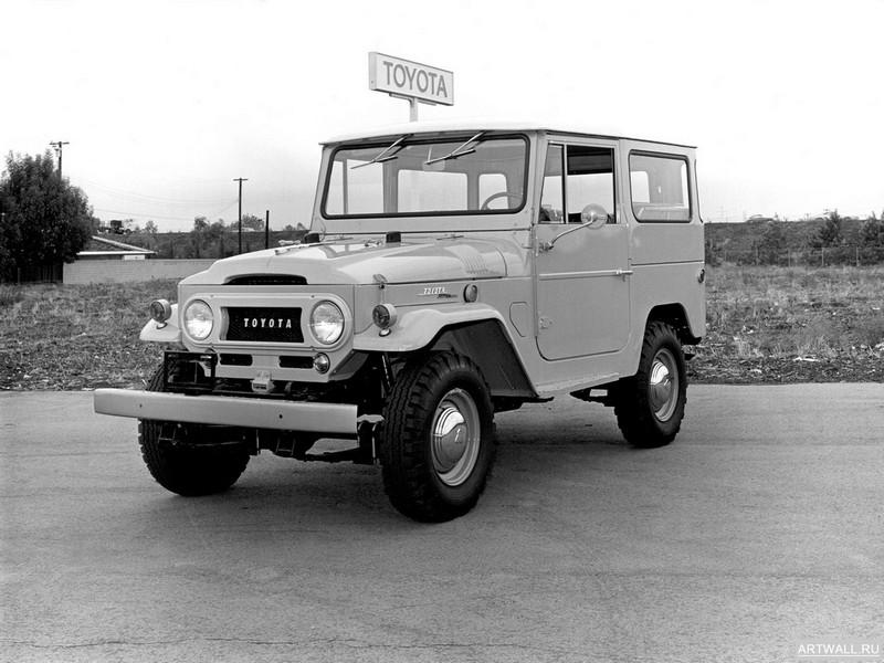 Постер Toyota Land Cruiser (FJ40VL) 1961-73, 27x20 см, на бумагеToyota<br>Постер на холсте или бумаге. Любого нужного вам размера. В раме или без. Подвес в комплекте. Трехслойная надежная упаковка. Доставим в любую точку России. Вам осталось только повесить картину на стену!<br>