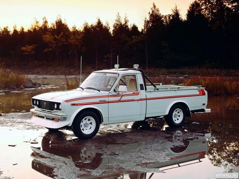 Постер Toyota SR5 Long Sport Truck 2WD (RN28) 1976-78, 27x20 см, на бумагеToyota<br>Постер на холсте или бумаге. Любого нужного вам размера. В раме или без. Подвес в комплекте. Трехслойная надежная упаковка. Доставим в любую точку России. Вам осталось только повесить картину на стену!<br>