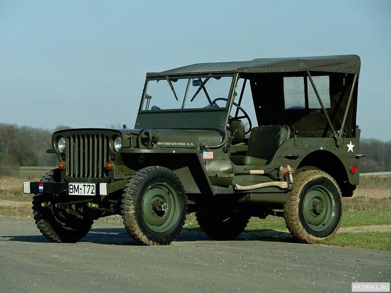 Постер Willys MB Jeep 1942, 27x20 см, на бумагеWillys<br>Постер на холсте или бумаге. Любого нужного вам размера. В раме или без. Подвес в комплекте. Трехслойная надежная упаковка. Доставим в любую точку России. Вам осталось только повесить картину на стену!<br>