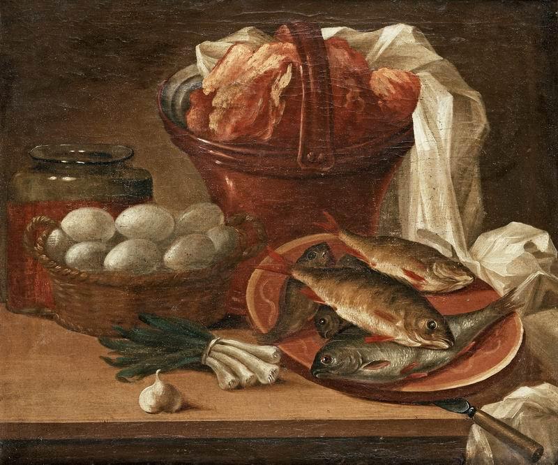 Натюрморт, картина Бертри Николас Хенри, Натюрморт с рыбой, яйцами, овощами и мясомНатюрморт<br>Репродукция на холсте или бумаге. Любого нужного вам размера. В раме или без. Подвес в комплекте. Трехслойная надежная упаковка. Доставим в любую точку России. Вам осталось только повесить картину на стену!<br>