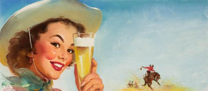 Пин-ап, картина Элвгрен Джил, Реклама блестящего техасского специального пиваПин-ап<br>Репродукция на холсте или бумаге. Любого нужного вам размера. В раме или без. Подвес в комплекте. Трехслойная надежная упаковка. Доставим в любую точку России. Вам осталось только повесить картину на стену!<br>