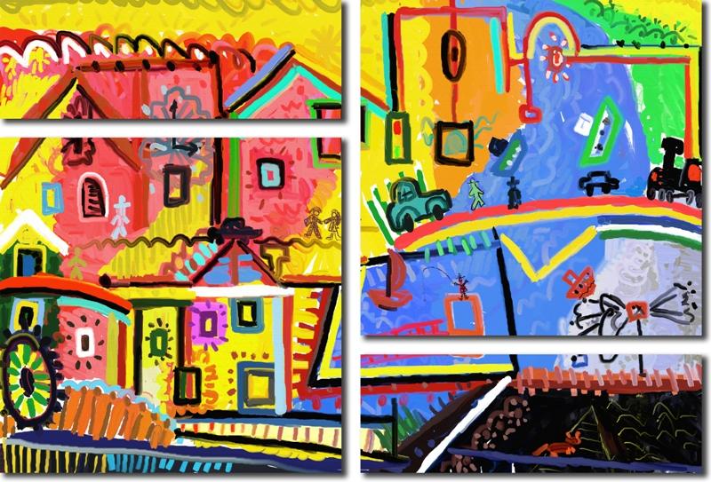 Модульная картина «Мой город»Города<br>Модульная картина на натуральном холсте и деревянном подрамнике. Подвес в комплекте. Трехслойная надежная упаковка. Доставим в любую точку России. Вам осталось только повесить картину на стену!<br>