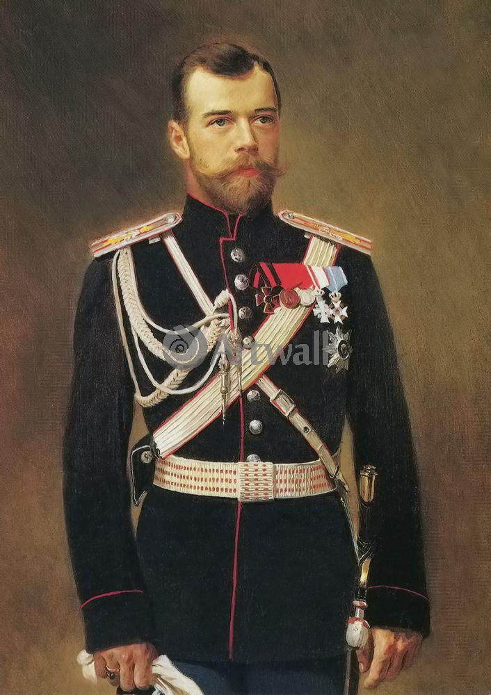Постер-картина Николай II Портрет Николая IIНиколай II<br>Постер на холсте или бумаге. Любого нужного вам размера. В раме или без. Подвес в комплекте. Трехслойная надежная упаковка. Доставим в любую точку России. Вам осталось только повесить картину на стену!<br>