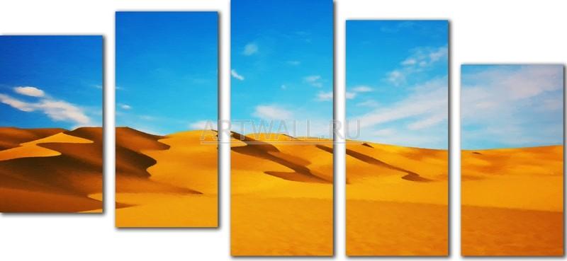 Модульная картина «Барханы»Африканские мотивы<br>Модульная картина на натуральном холсте и деревянном подрамнике. Подвес в комплекте. Трехслойная надежная упаковка. Доставим в любую точку России. Вам осталось только повесить картину на стену!<br>
