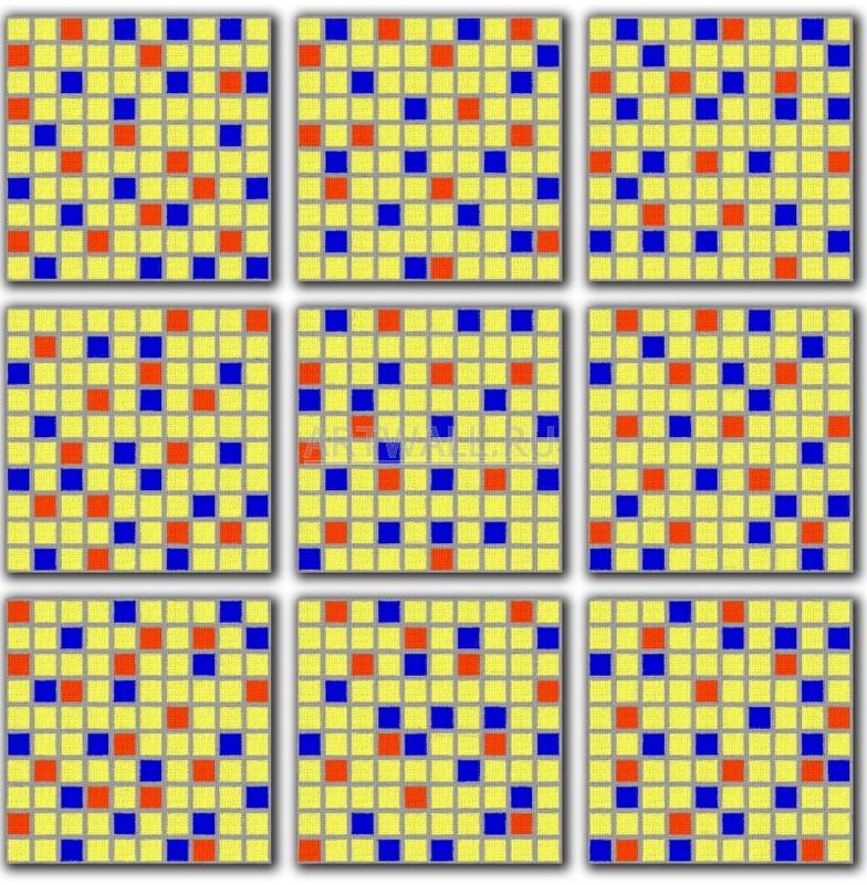 Модульная картина «Разноцветные квадраты»Абстракция<br>Модульная картина на натуральном холсте и деревянном подрамнике. Подвес в комплекте. Трехслойная надежная упаковка. Доставим в любую точку России. Вам осталось только повесить картину на стену!<br>
