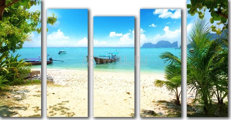 Модульная картина «Баунти»Море<br>Модульная картина на натуральном холсте и деревянном подрамнике. Подвес в комплекте. Трехслойная надежная упаковка. Доставим в любую точку России. Вам осталось только повесить картину на стену!<br>