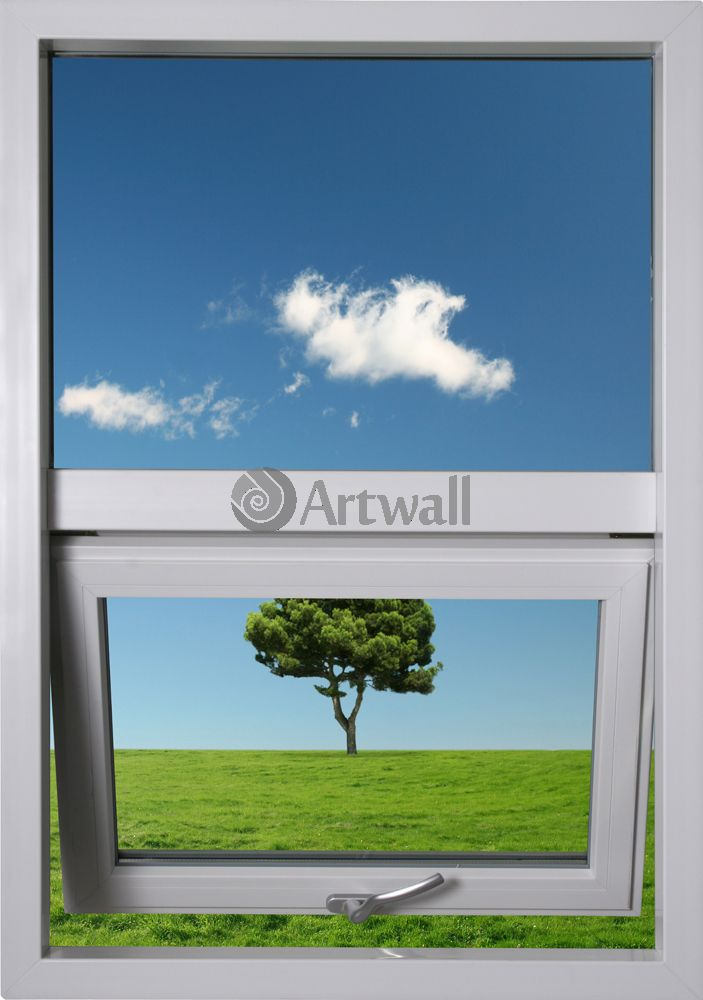 Фотообои «Дерево и облако»Вид из окна<br><br>