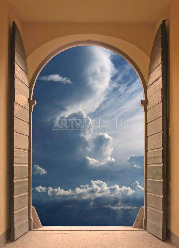 Фотообои «Лучи сквозь тучи»Вид из окна<br><br>