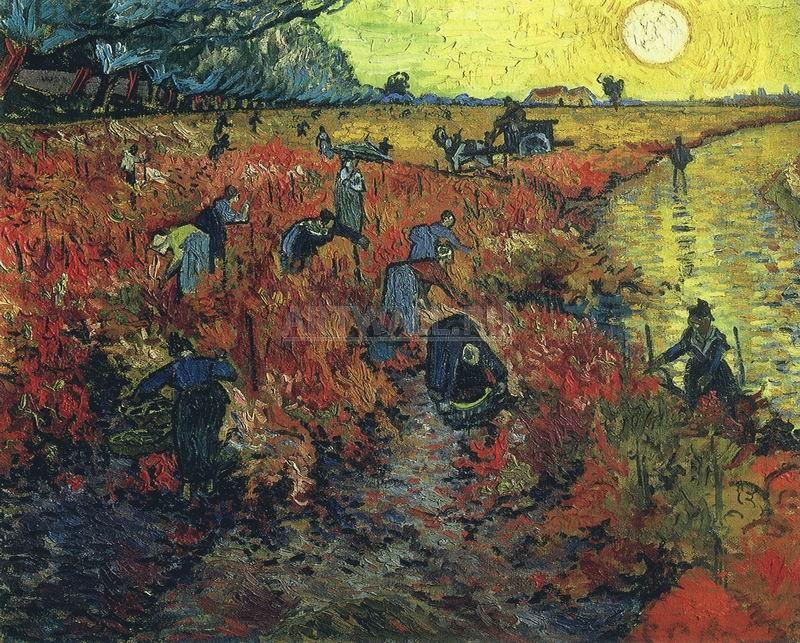 Ван Гог Винсент, картина Красные виноградники в АрлеВан Гог Винсент<br>Репродукция на холсте или бумаге. Любого нужного вам размера. В раме или без. Подвес в комплекте. Трехслойная надежная упаковка. Доставим в любую точку России. Вам осталось только повесить картину на стену!<br>