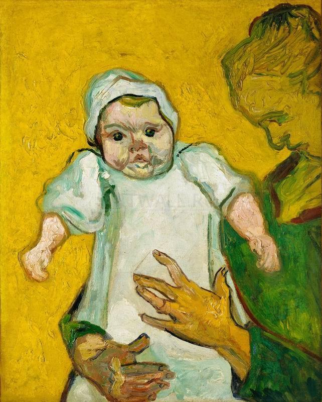 Ван Гог Винсент, картина Мадам Рулен с ребенкомВан Гог Винсент<br>Репродукция на холсте или бумаге. Любого нужного вам размера. В раме или без. Подвес в комплекте. Трехслойная надежная упаковка. Доставим в любую точку России. Вам осталось только повесить картину на стену!<br>