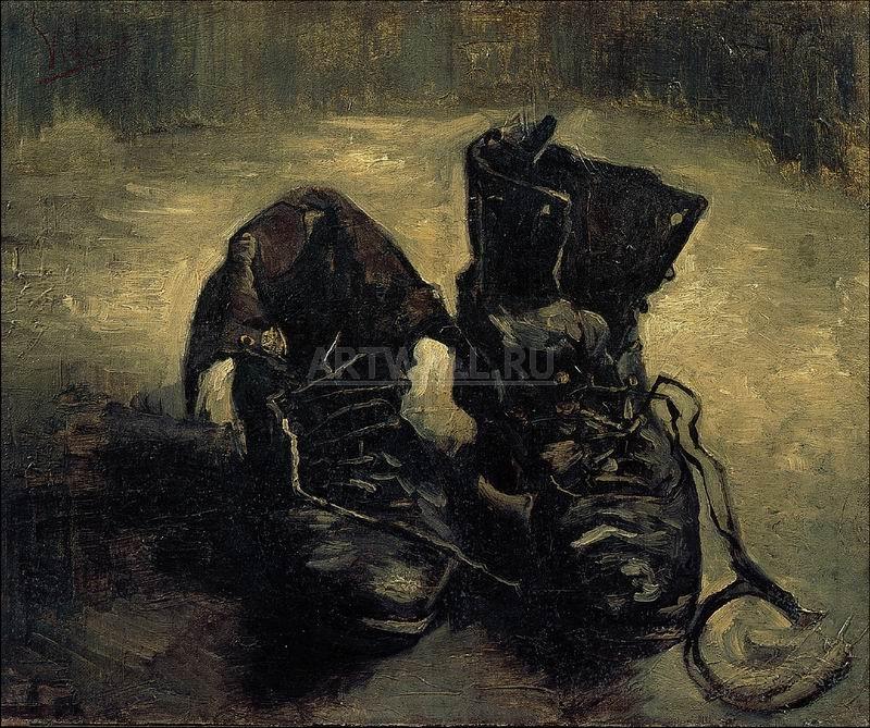 Ван Гог Винсент, картина Пара ботинок, 1886Ван Гог Винсент<br>Репродукция на холсте или бумаге. Любого нужного вам размера. В раме или без. Подвес в комплекте. Трехслойная надежная упаковка. Доставим в любую точку России. Вам осталось только повесить картину на стену!<br>