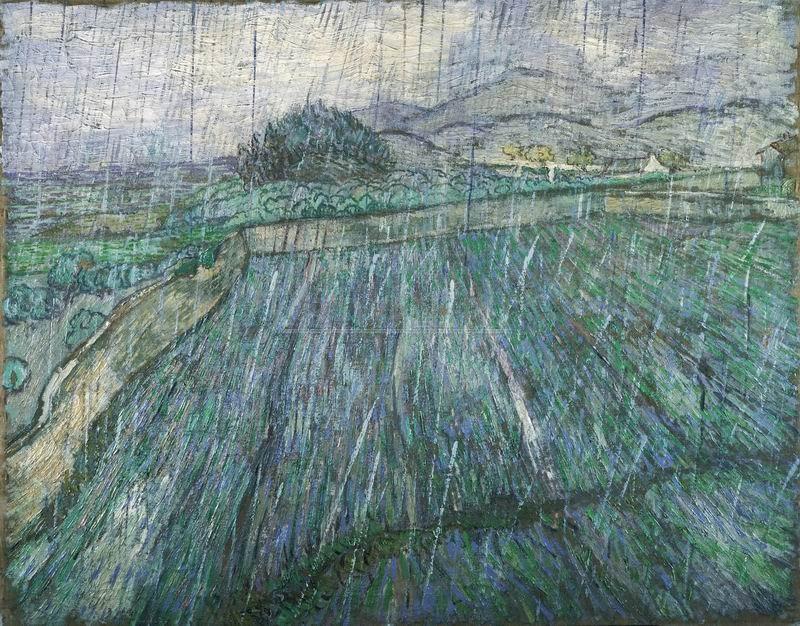 Ван Гог Винсент, картина Пшеничное поле в дождьВан Гог Винсент<br>Репродукция на холсте или бумаге. Любого нужного вам размера. В раме или без. Подвес в комплекте. Трехслойная надежная упаковка. Доставим в любую точку России. Вам осталось только повесить картину на стену!<br>
