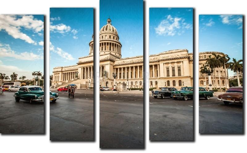 Модульная картина «Куба»Города<br>Модульная картина на натуральном холсте и деревянном подрамнике. Подвес в комплекте. Трехслойная надежная упаковка. Доставим в любую точку России. Вам осталось только повесить картину на стену!<br>