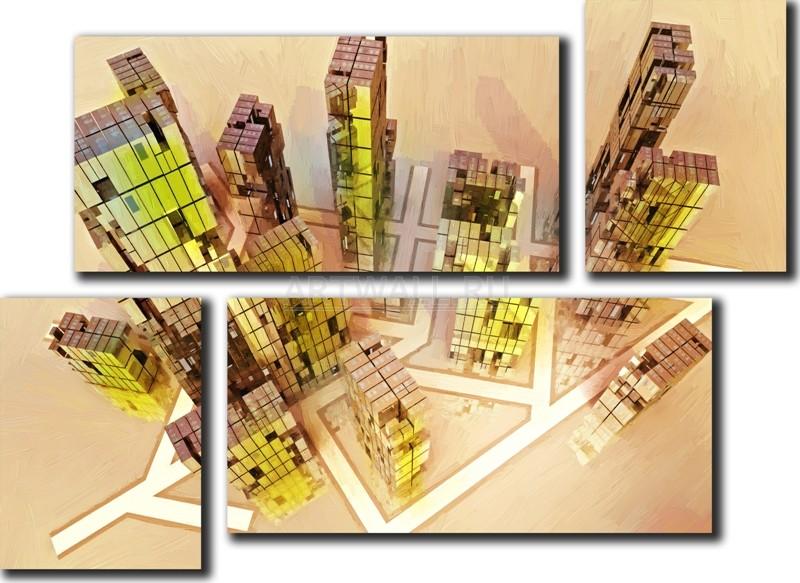 Модульная картина «Линии города», 69x50 см, модульная картинаГорода<br>Модульная картина на натуральном холсте и деревянном подрамнике. Подвес в комплекте. Трехслойная надежная упаковка. Доставим в любую точку России. Вам осталось только повесить картину на стену!<br>