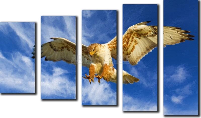 Модульная картина «Хищник»Животные и птицы<br>Модульная картина на натуральном холсте и деревянном подрамнике. Подвес в комплекте. Трехслойная надежная упаковка. Доставим в любую точку России. Вам осталось только повесить картину на стену!<br>