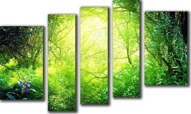 Модульная картина «Солнечные лучи»Природа<br>Модульная картина на натуральном холсте и деревянном подрамнике. Подвес в комплекте. Трехслойная надежная упаковка. Доставим в любую точку России. Вам осталось только повесить картину на стену!<br>