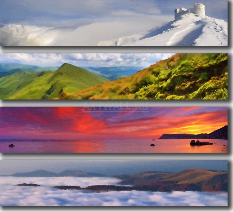 Модульная картина «Красивые места»Природа<br>Модульная картина на натуральном холсте и деревянном подрамнике. Подвес в комплекте. Трехслойная надежная упаковка. Доставим в любую точку России. Вам осталось только повесить картину на стену!<br>