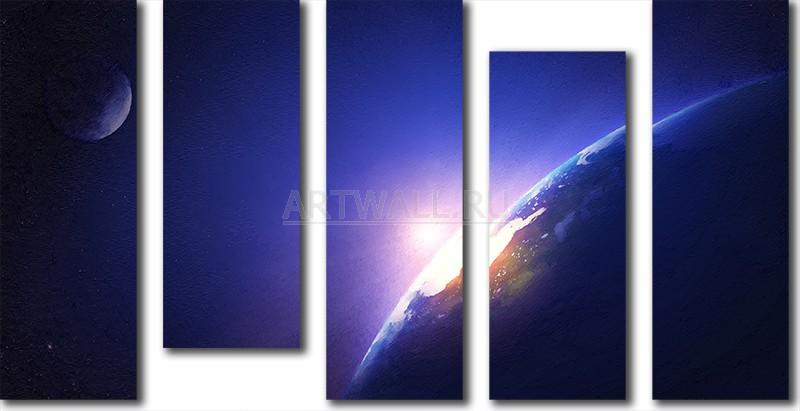Модульная картина «Три небесных тела»