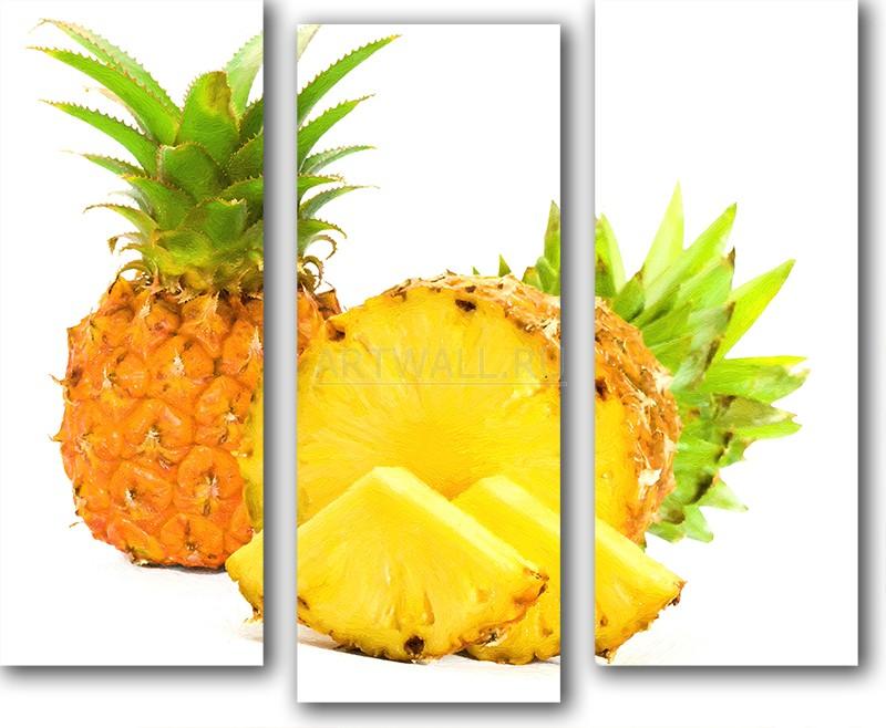Модульная картина «Натюрморт с ананасами»Фрукты<br>Модульная картина на натуральном холсте и деревянном подрамнике. Подвес в комплекте. Трехслойная надежная упаковка. Доставим в любую точку России. Вам осталось только повесить картину на стену!<br>