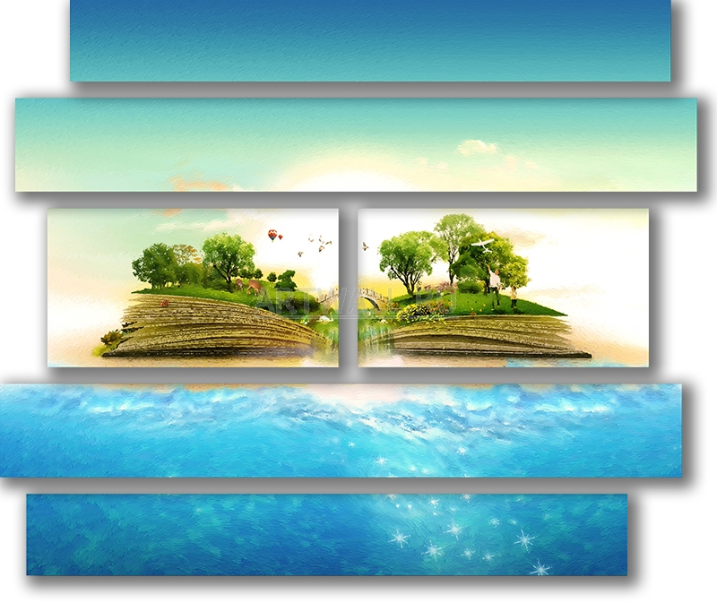 Модульная картина «Остров-книга»