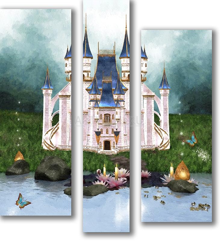 Модульная картина «Замок волшебника»Детские<br>Модульная картина на натуральном холсте и деревянном подрамнике. Подвес в комплекте. Трехслойная надежная упаковка. Доставим в любую точку России. Вам осталось только повесить картину на стену!<br>