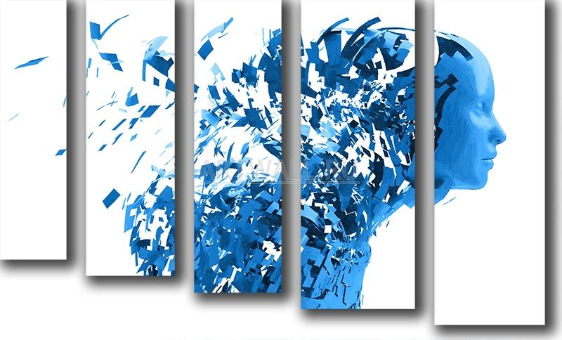 Модульная картина «Составляющие части»Люди<br>Модульная картина на натуральном холсте и деревянном подрамнике. Подвес в комплекте. Трехслойная надежная упаковка. Доставим в любую точку России. Вам осталось только повесить картину на стену!<br>