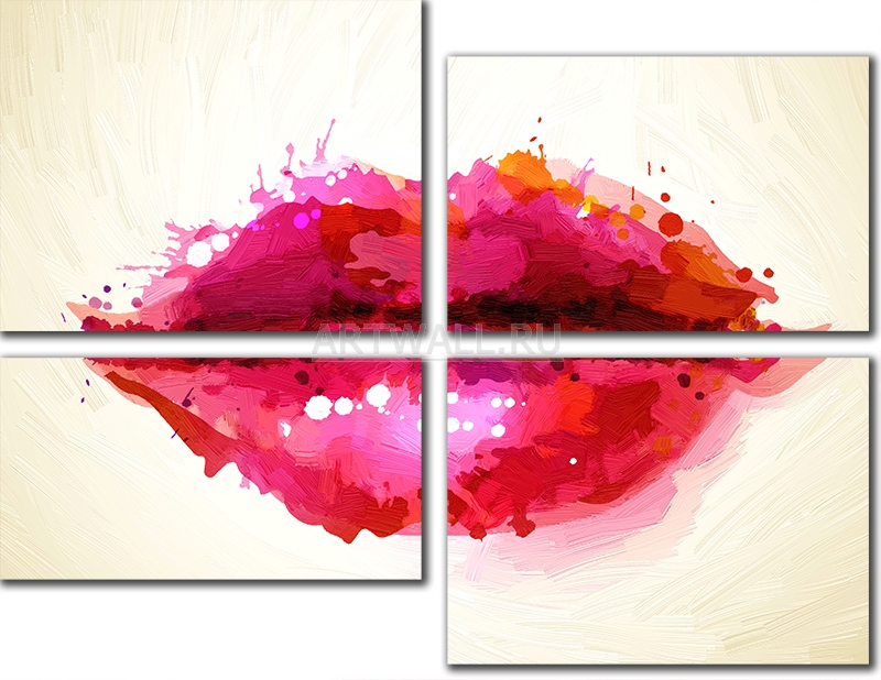 Модульная картина «Губы»