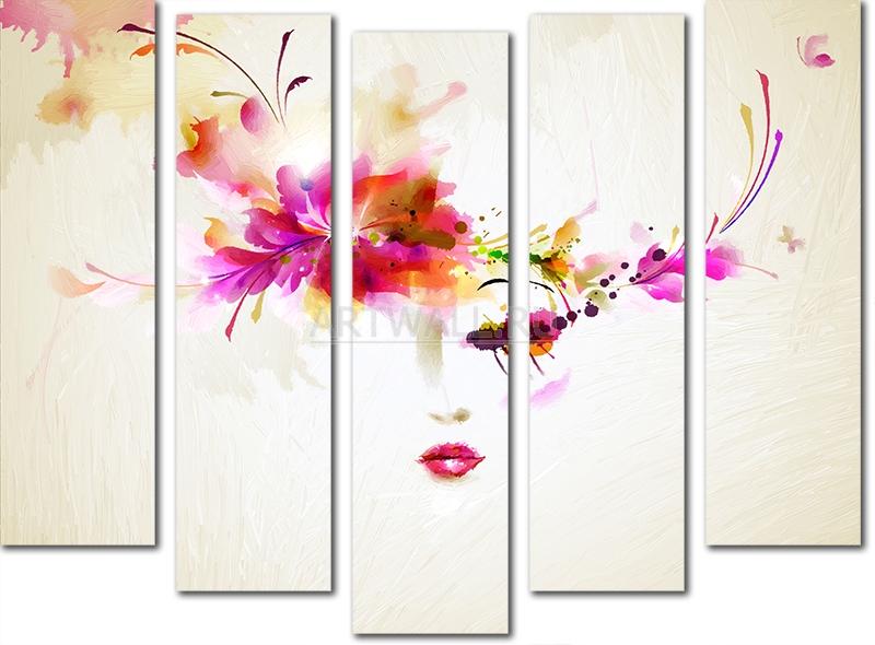 Модульная картина «Японская красавица»Люди<br>Модульная картина на натуральном холсте и деревянном подрамнике. Подвес в комплекте. Трехслойная надежная упаковка. Доставим в любую точку России. Вам осталось только повесить картину на стену!<br>