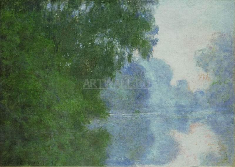 Моне Клод, картина Туманное утро на СенеМоне Клод<br>Репродукция на холсте или бумаге. Любого нужного вам размера. В раме или без. Подвес в комплекте. Трехслойная надежная упаковка. Доставим в любую точку России. Вам осталось только повесить картину на стену!<br>