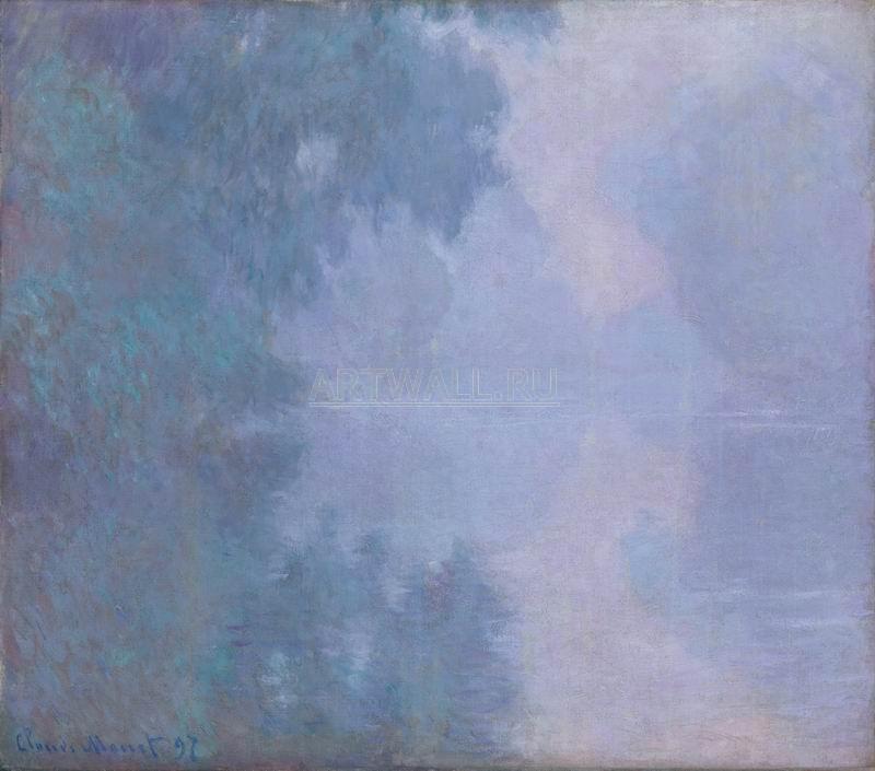 Моне Клод, картина Утро на Сене, туманМоне Клод<br>Репродукция на холсте или бумаге. Любого нужного вам размера. В раме или без. Подвес в комплекте. Трехслойная надежная упаковка. Доставим в любую точку России. Вам осталось только повесить картину на стену!<br>