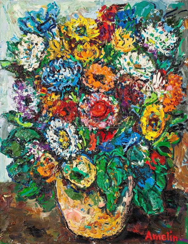 Постер Цветы в живописи и графике