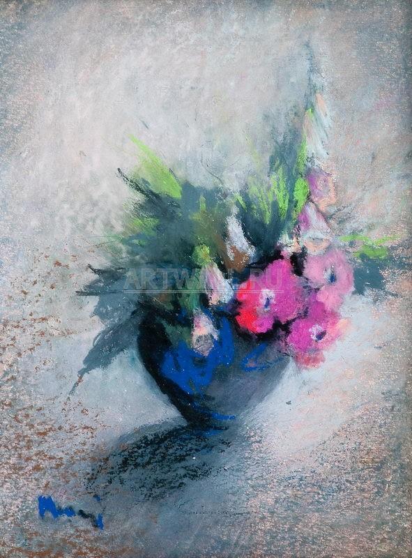 Цветы, картина Маарни Элви, Розовые цветыЦветы<br>Репродукция на холсте или бумаге. Любого нужного вам размера. В раме или без. Подвес в комплекте. Трехслойная надежная упаковка. Доставим в любую точку России. Вам осталось только повесить картину на стену!<br>