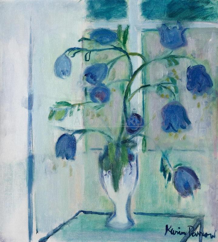 Цветы, картина Парров Карин, Синие цветыЦветы<br>Репродукция на холсте или бумаге. Любого нужного вам размера. В раме или без. Подвес в комплекте. Трехслойная надежная упаковка. Доставим в любую точку России. Вам осталось только повесить картину на стену!<br>