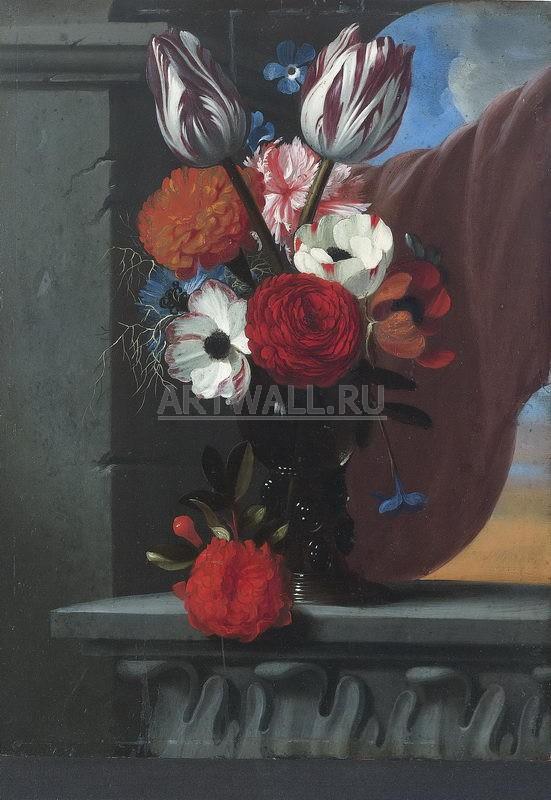 Цветы, картина Мишель де Бульон, постер 27624Цветы<br>Репродукция на холсте или бумаге. Любого нужного вам размера. В раме или без. Подвес в комплекте. Трехслойная надежная упаковка. Доставим в любую точку России. Вам осталось только повесить картину на стену!<br>