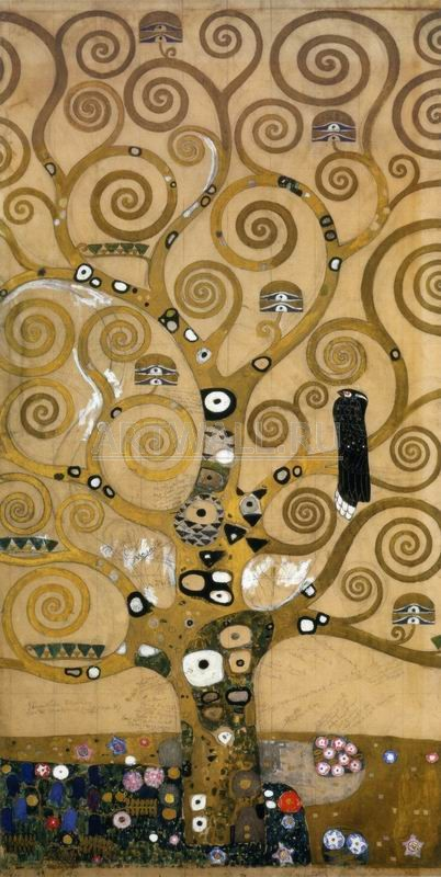 Климт Густав, картина Картон для фриза во дворце Стокле в Брюсселе, центрКлимт Густав<br>Репродукция на холсте или бумаге. Любого нужного вам размера. В раме или без. Подвес в комплекте. Трехслойная надежная упаковка. Доставим в любую точку России. Вам осталось только повесить картину на стену!<br>