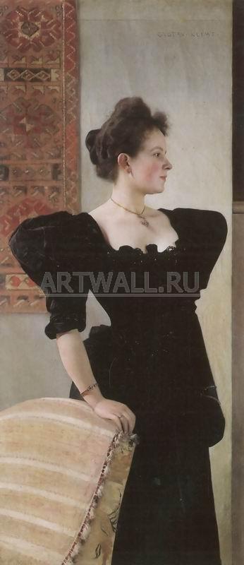 Климт Густав, картина Портрет Мари БреунигКлимт Густав<br>Репродукция на холсте или бумаге. Любого нужного вам размера. В раме или без. Подвес в комплекте. Трехслойная надежная упаковка. Доставим в любую точку России. Вам осталось только повесить картину на стену!<br>