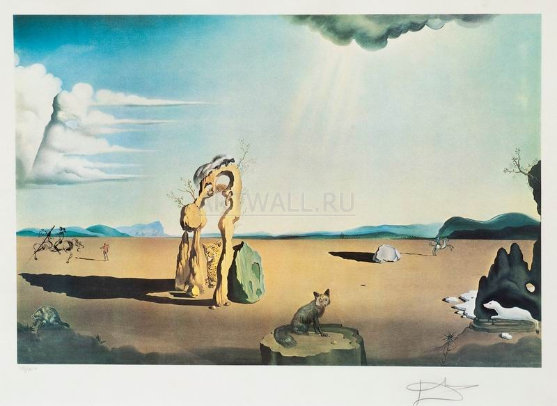 Дали Сальвадор, картина Дикие звери в пустынеДали Сальвадор<br>Репродукция на холсте или бумаге. Любого нужного вам размера. В раме или без. Подвес в комплекте. Трехслойная надежная упаковка. Доставим в любую точку России. Вам осталось только повесить картину на стену!<br>