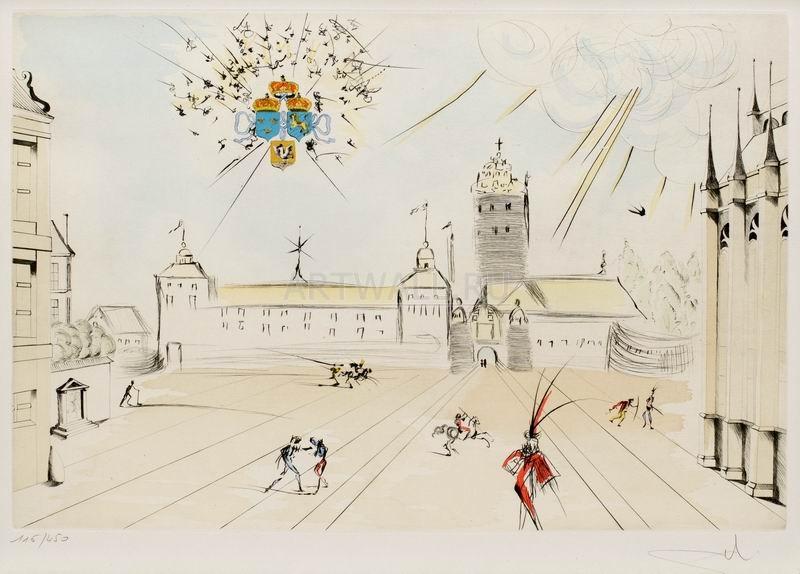 Дали Сальвадор, картина Королевский замокДали Сальвадор<br>Репродукция на холсте или бумаге. Любого нужного вам размера. В раме или без. Подвес в комплекте. Трехслойная надежная упаковка. Доставим в любую точку России. Вам осталось только повесить картину на стену!<br>