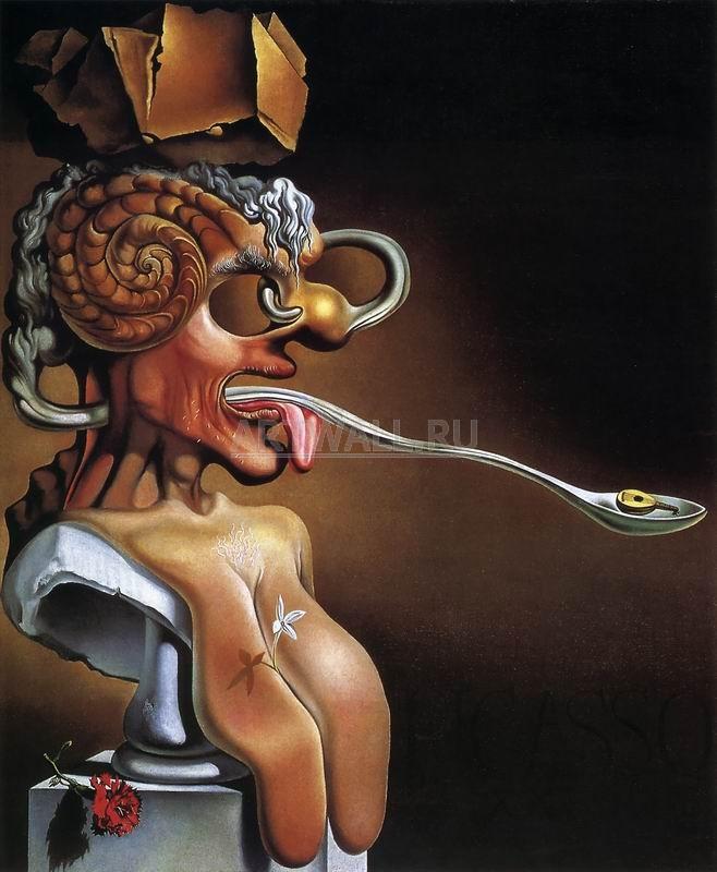 Дали Сальвадор, картина Портрет ПикассоДали Сальвадор<br>Репродукция на холсте или бумаге. Любого нужного вам размера. В раме или без. Подвес в комплекте. Трехслойная надежная упаковка. Доставим в любую точку России. Вам осталось только повесить картину на стену!<br>