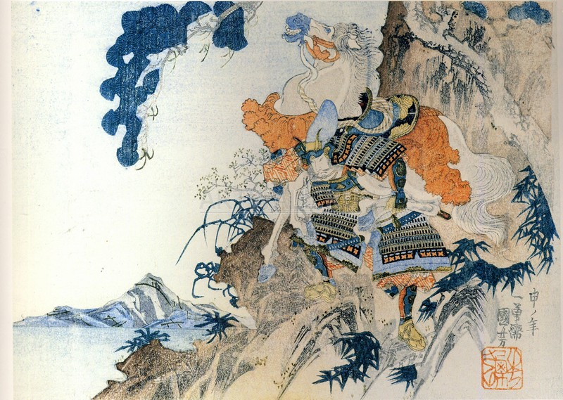Японская гравюра Куниёси Утагава,