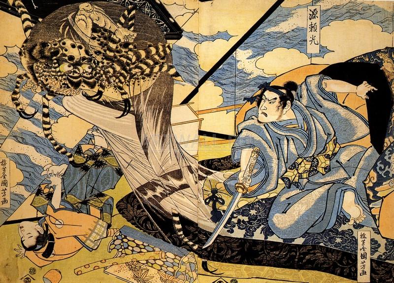 Японская гравюра Куниёси Утагава, Минамото Йоримитсу, также известный как РайкоКуниёси Утагава<br>Репродукция на холсте или бумаге. Любого нужного вам размера. В раме или без. Подвес в комплекте. Трехслойная надежная упаковка. Доставим в любую точку России. Вам осталось только повесить картину на стену!<br>